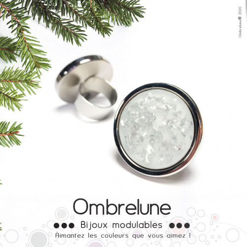 ORNEMENT « SPARKLE SILVER MAT »