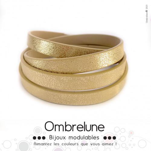 Cordon Slide 10mm «Doré brillant»/ bijoux aimantés Ombrelune