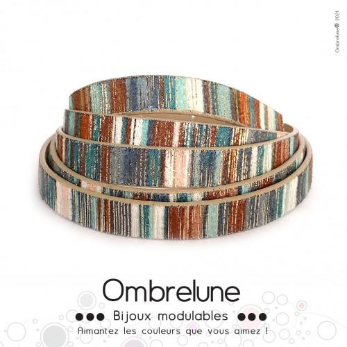 Cordon Slide 10mm «Jungle»/ bijoux aimantés Ombrelune