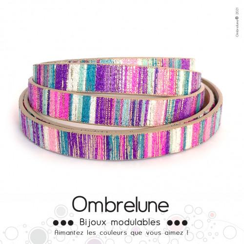 Cordon Slide 10mm «Babette»/ bijoux aimantés Ombrelune