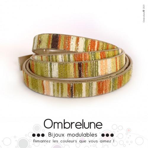 Cordon Slide 10mm «Bambou»/ bijoux aimantés Ombrelune