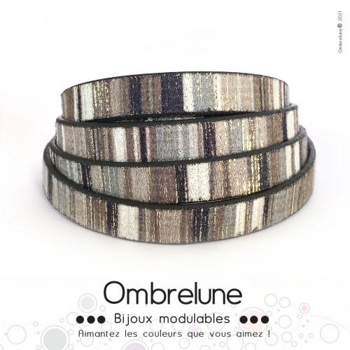 Cordon Slide 10mm «Chic»/ bijoux aimantés Ombrelune