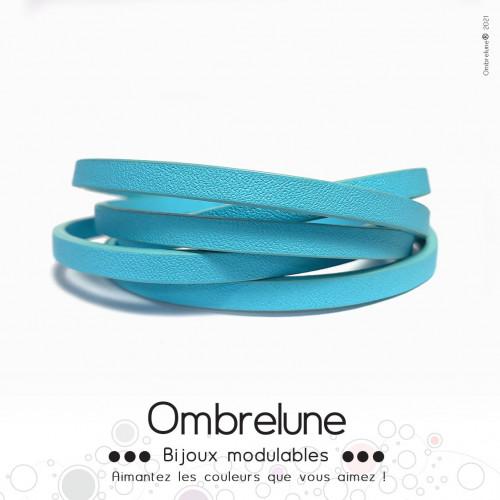 Cordon Slide 5mm «Azur»/ bijoux aimantés Ombrelune