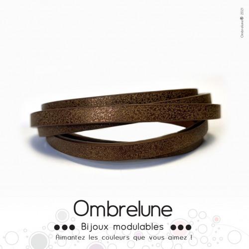 Cordon Slide 5mm «Chocolat»/ bijoux aimantés Ombrelune