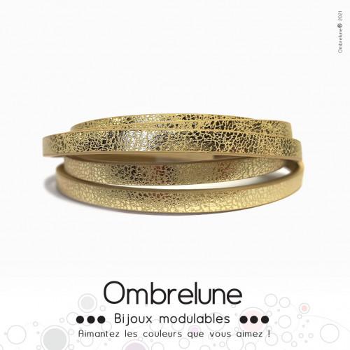 Cordon Slide 5mm «Doré éclat»/ bijoux aimantés Ombrelune