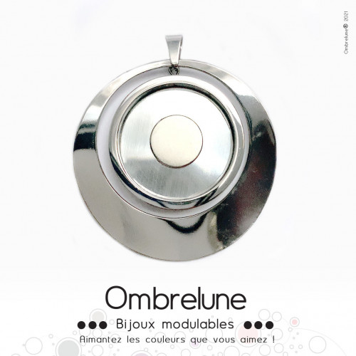 Pendentif GIGA «Sphère» / pendentif aimanté et interchangeable / Bijoux Ombrelune