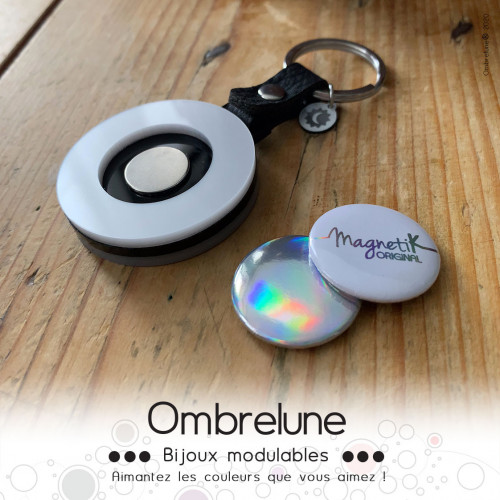 Porte-clés «2sides»  / porte-clés aimanté et interchangeable / Bijoux Ombrelune