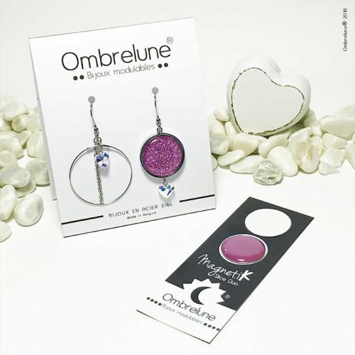 Modèle «Lovefool» / Boucles d'oreilles aimantées et interchangeables en acier / Bijoux Ombrelune