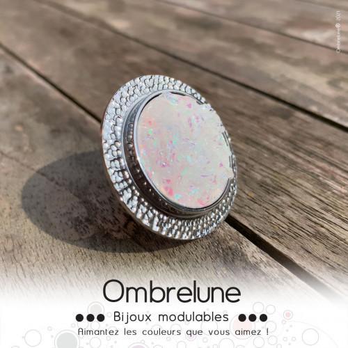 Himalaya 00 / cabochon interchangeable / bijoux aimanté Ombrelune